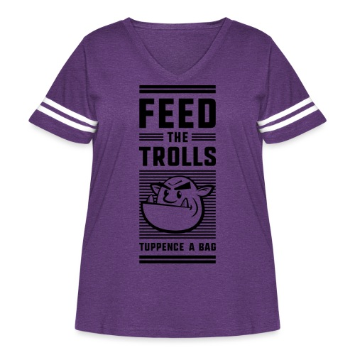 Feed the Trolls T-Shirt - Women's Curvy Vintage Sport T-Shirt