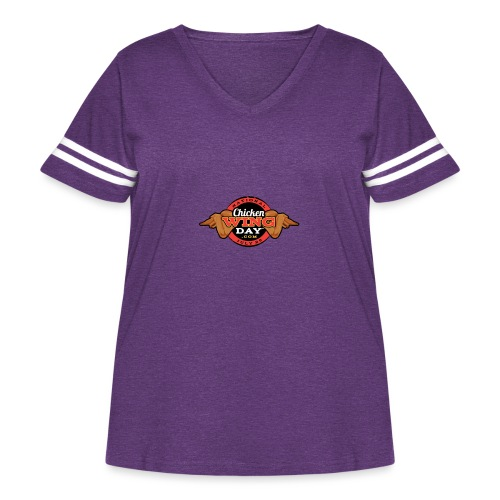 Chicken Wing Day - Women's Curvy Vintage Sport T-Shirt