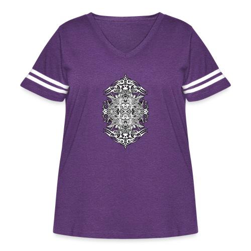 Eternal Voyage 4 - B&W - Women's Curvy Vintage Sport T-Shirt