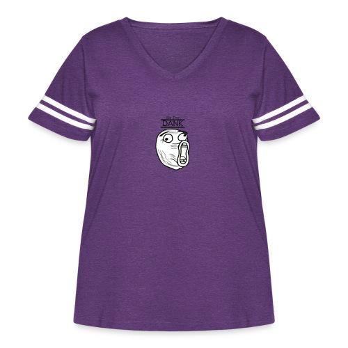 Be The Dank - Women's Curvy Vintage Sport T-Shirt