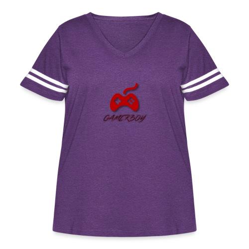 Gamerboy - Women's Curvy Vintage Sport T-Shirt
