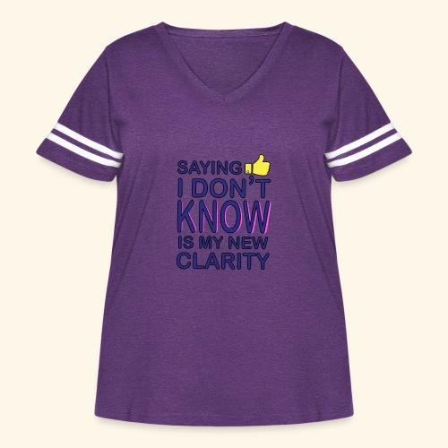 new clarity - Women's Curvy Vintage Sport T-Shirt