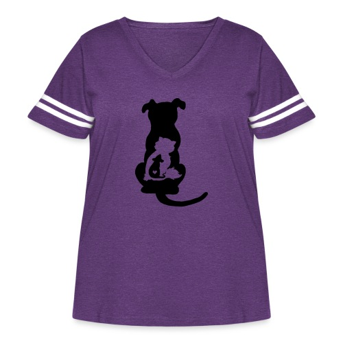 Harmony - Women's Curvy Vintage Sport T-Shirt