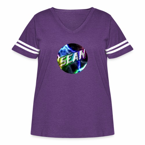 Sean Morabito YouTube Logo - Women's Curvy Vintage Sport T-Shirt