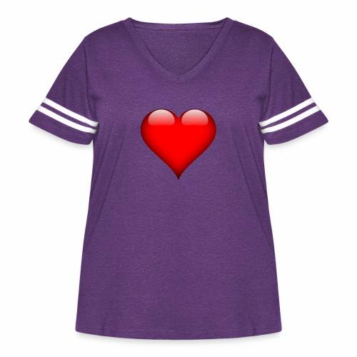 pic - Women's Curvy Vintage Sport T-Shirt
