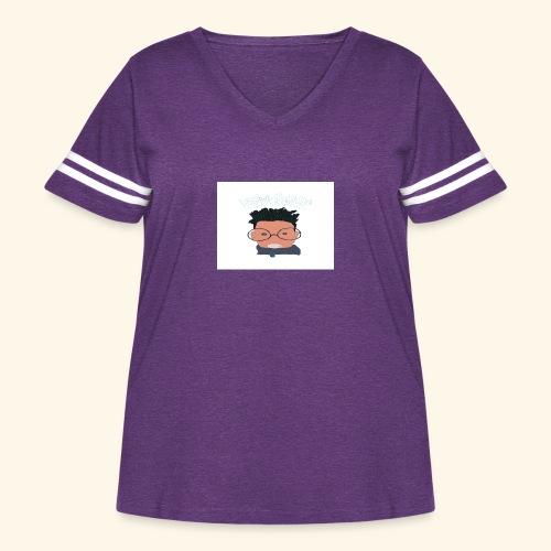 weiweigang logo edit - Women's Curvy Vintage Sport T-Shirt