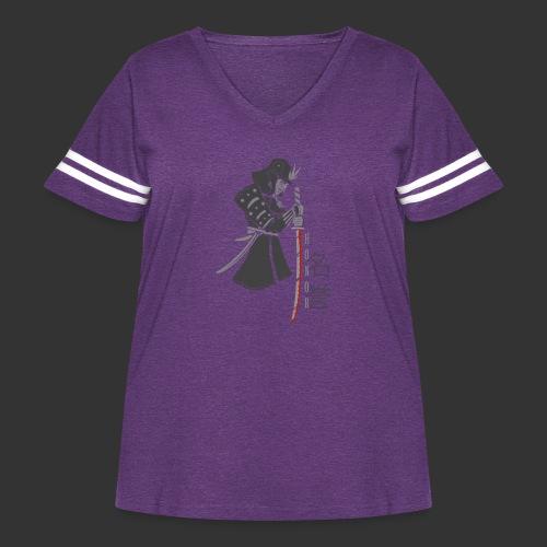 Samurai (Digital Print) - Women's Curvy Vintage Sport T-Shirt