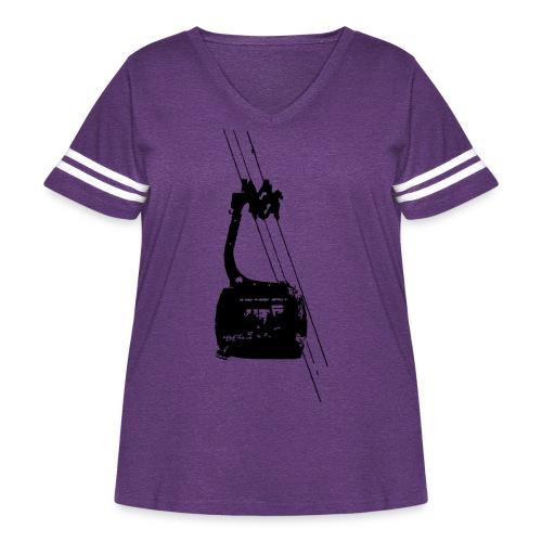 Ski Tram - Women's Curvy Vintage Sport T-Shirt