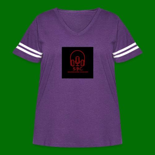 SPC Logo Black/Red - Women's Curvy Vintage Sport T-Shirt