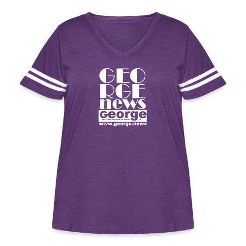 WE ARE GEORGE - Women's Curvy Vintage Sports T-Shirt