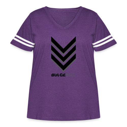 bulgebull_badge - Women's Curvy Vintage Sport T-Shirt