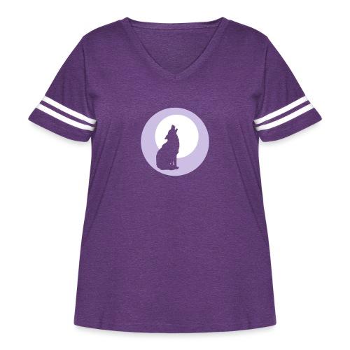 Howling Wolf - Women's Curvy Vintage Sport T-Shirt
