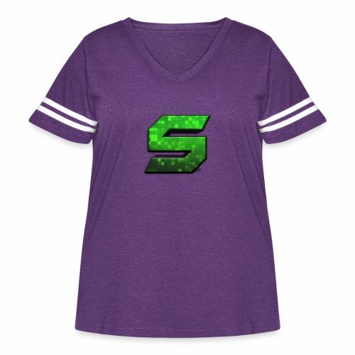 seans logo - Women's Curvy Vintage Sport T-Shirt