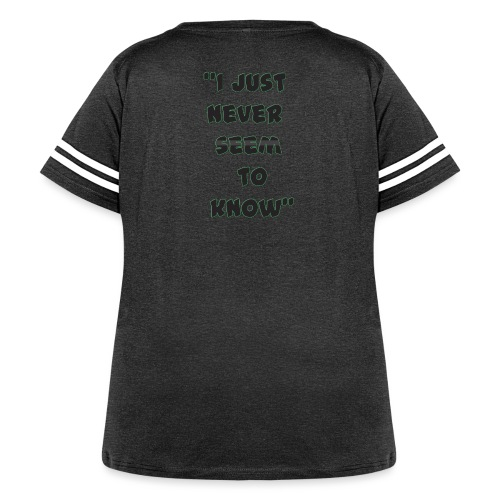 know png - Women's Curvy Vintage Sport T-Shirt