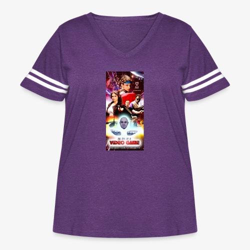 Phone Case Test png - Women's Curvy Vintage Sport T-Shirt