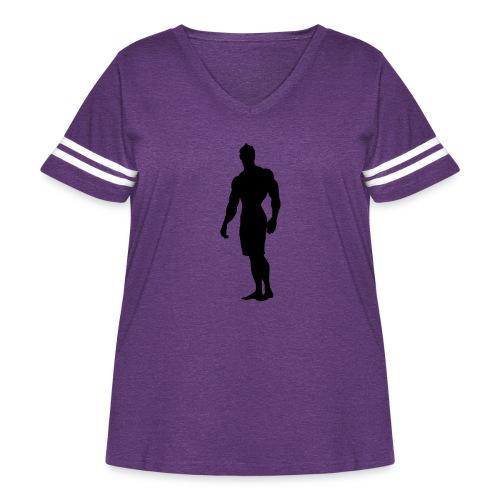 Mens Physique Competitor 3 - Women's Curvy Vintage Sport T-Shirt