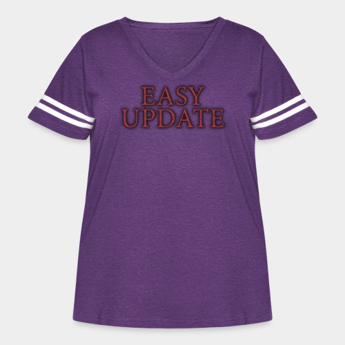 Easy Update Logo Red - Women's Curvy Vintage Sport T-Shirt