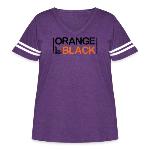 Free Piper, Orange is the New Black Women's - Women's Curvy Vintage Sport T-Shirt