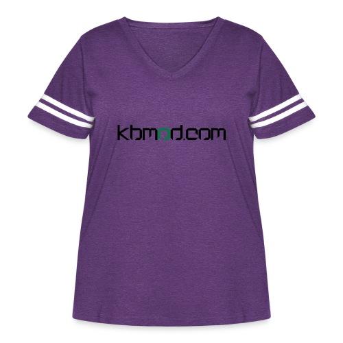 kbmoddotcom - Women's Curvy Vintage Sport T-Shirt