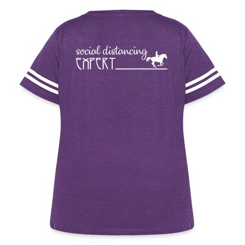 Social Distancing Expert - Women's Curvy Vintage Sport T-Shirt