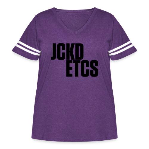 JE_BACK - Women's Curvy Vintage Sport T-Shirt