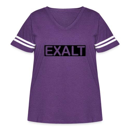 EXALT - Women's Curvy Vintage Sports T-Shirt