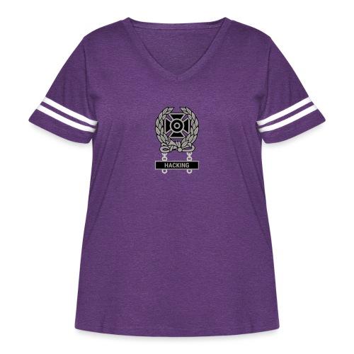 Expert Hacker Qualification Badge - Women's Curvy Vintage Sport T-Shirt