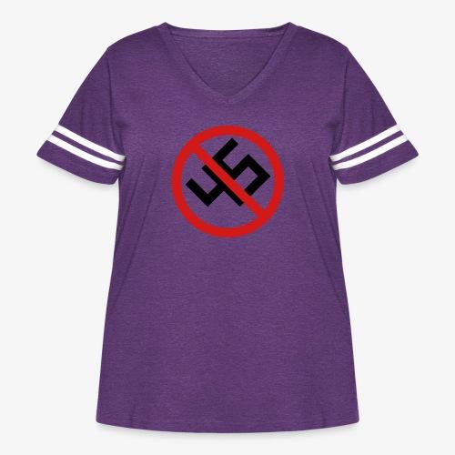 NO45 - Women's Curvy Vintage Sport T-Shirt