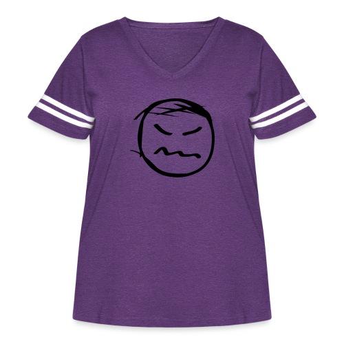 kicky head solo - Women's Curvy Vintage Sport T-Shirt