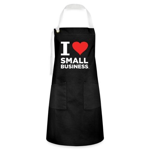 I Heart Small Business Logo (Red & White) - Artisan Apron
