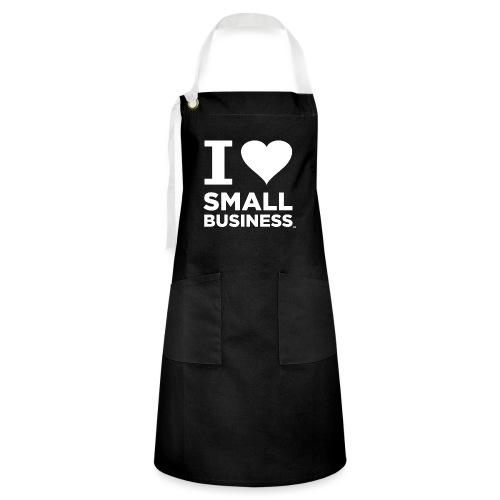 I Heart Small Business Logo (All White) - Artisan Apron