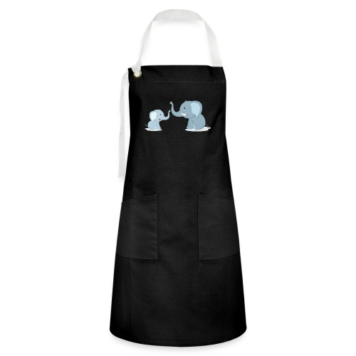 Father and Baby Son Elephant - Artisan Apron