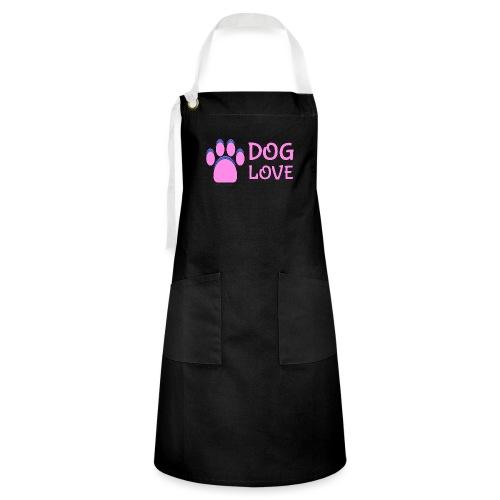 Pink Dog paw print Dog Love - Artisan Apron