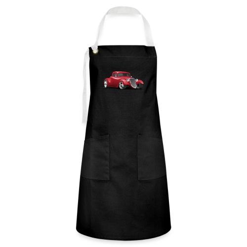 Custom American Red Hot Rod Car - Artisan Apron