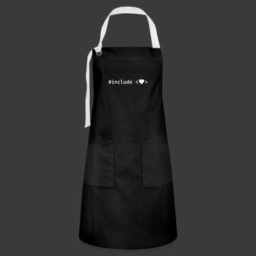 Include Heart (Dark Background) - Artisan Apron