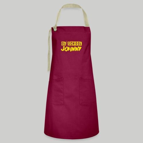 Ol' School Johnny Logo in Yellow - Artisan Apron