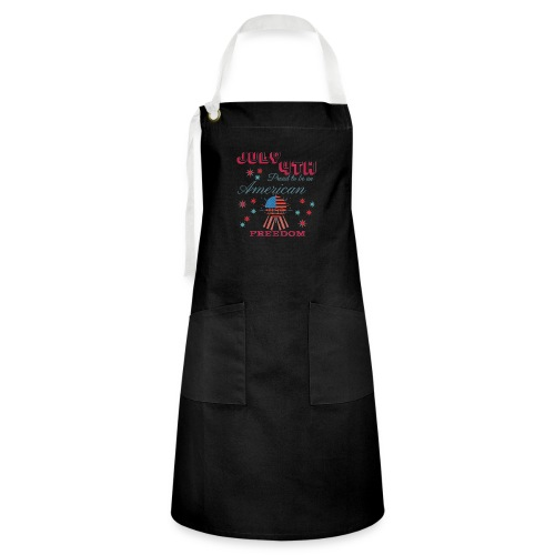 July 4th Proud to be an American - Artisan Apron