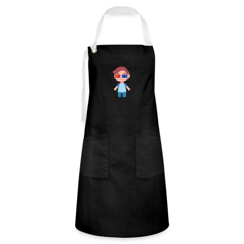 Boy with eye 3D glasses - Artisan Apron