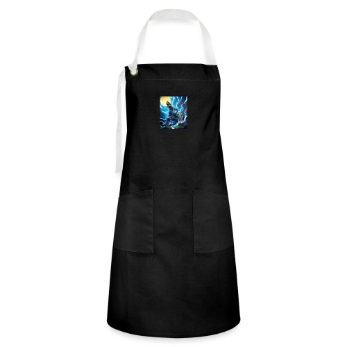 Blue lighting dragom - Artisan Apron