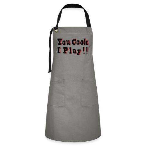 2D You Cook I Play - Artisan Apron