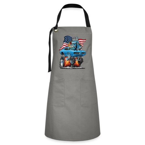 Patriotic Sixties American Muscle Car with Flag - Artisan Apron