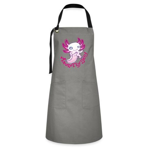 Cute funny axolotl posing, waving and smiling - Artisan Apron