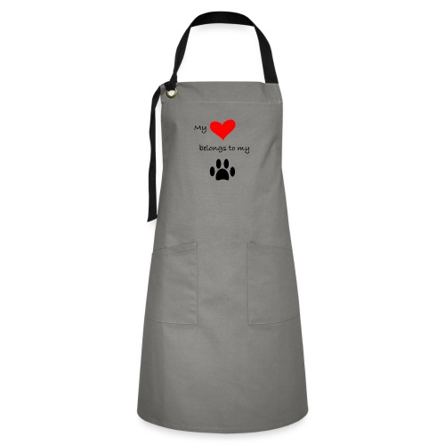 Dog Lovers shirt - My Heart Belongs to my Dog - Artisan Apron