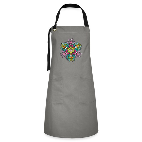 Doodle art in the form of crazy hungry monsters - Artisan Apron