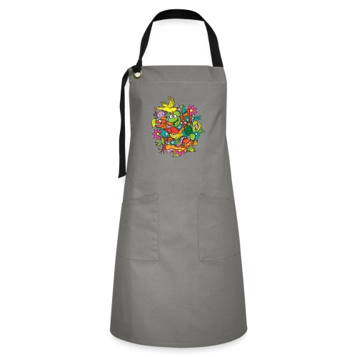 Amazing crowd of funny creatures living in a pond - Artisan Apron