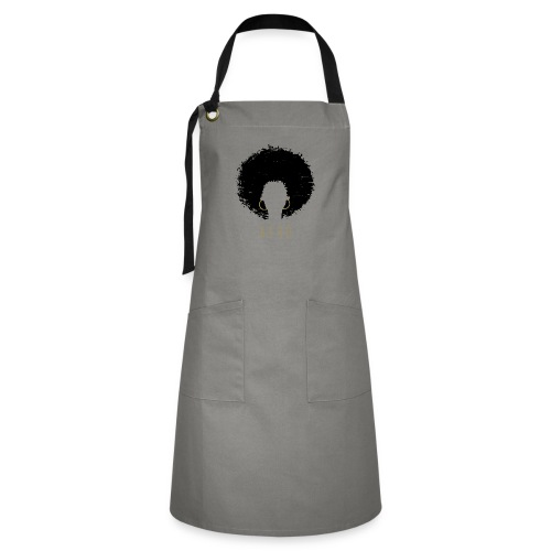 Black Afro American Latina Natural Hair - Artisan Apron