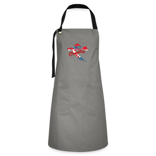 Croatia Football Team Colours T-Shirt Treasure Des - Artisan Apron