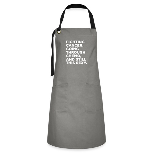 Cancer Fighter Quote - Artisan Apron