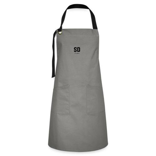 SD Designs blue, white, red/black merch - Artisan Apron