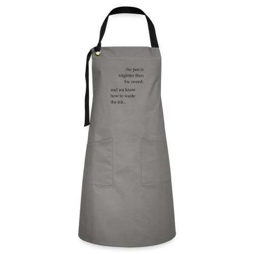 the pen is mightier - Artisan Apron